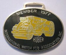 Huber Roller Pocket Watch Fob IWFAI 1977 Pearson 1425 Road Construction Asphalt