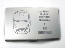 Ironman = Female Engraved Business Card Wallet Case Holder Patch Gift BUS-0401