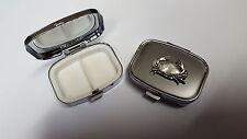 Cangrejo pp-ss02 Inglés estaño emblema en un Rectangular Metal Pastillero