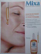 publicité de presse   MIXA  HUILE SECHE  Estelle Lefebure en  2014   ref. 5626