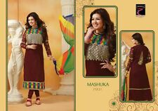 Partywear Semi-Stitched Embroidery cotton churidar anarkali salwar Material