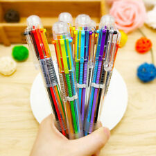 1pcs 6 Colors In 1 Pen Multicolor Ball Point Pen School Office Stationary Hot CA