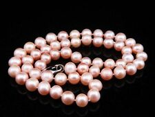 "16"" Light Pink Akoya Pearls Necklace 6mm-7mm AA Pearls #01241701"