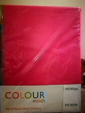 "Girls Pink fuchsia ring top colour match textured curtains brand new 46"" x 54"""
