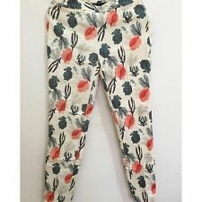 Zara Ocean Print Woven Trousers Size X SMALL BNWT