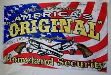 America's Original HomeLand Security Flag 3' x 5' Gun Right & Freedom Banner
