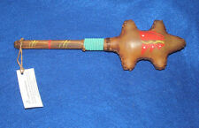 "10"" Rattle Rawhide Authentic Native American Navajo Dance Regalia Turtle #12"