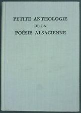 GILSON - PETITE ANTHOLOGIE DE LA POESIE ALSACIENNE - ED. LIMITÉE 1000 EX. - 1962