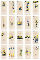 Apple iPhone 6 6s 5s 5 SE Minion Case Silicone Clear Gel Cover Screen Protector