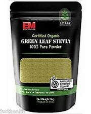 1Kg Organic Green Leaf Stevia Powder by EM Superfoods