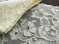 BEAUTIFUL, UNUSED Antique FRENCH ALENCON LACE 16 pc Set~ 8 PLACEMATS, 8 NAPKINS