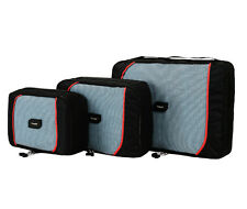 travela | ecubes - SET OF 3 BRAND NEW BLACK / RED PACKING CUBES - FREE SHIPPING!