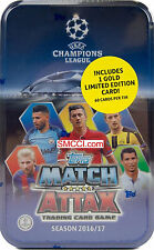 2016 2017 Topps UEFA Champions League Match Attax Card Game MEGA Collectors Tin
