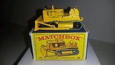 Matchbox 1-75 Modell RW No.18d Caterpillar Bulldozer 1964-68 mit E 1 - OVP
