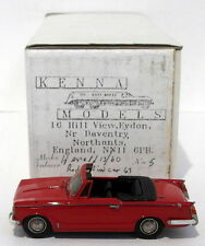 Kenna Models 1/43 Scale KM1 - Triumph Herald 13/60 Convertible Open - Red