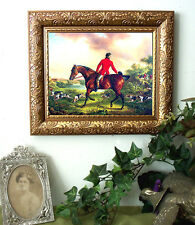 Towne Laying Them On Horse Hunt Art Print Vintage Styl Framed fh