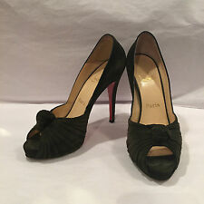 100% authentic Christian Louboutin open toe platform heels
