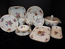 73 Pc Set Rosenthal Dresden Flowers Floral Porcelain Dinnerware German Serving