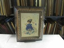 """Vintage Oil on Canvas Painting 20""""x17"""" Framed - 14""""x10"""" Canvas Signed"""