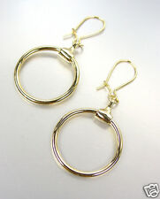 CHIC Designer Inspired Gold Horsebit Ring Dangle Earrings