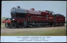 OLD POSTCARD OF 4-6-0 EXPRESS LOCOMOTIVE NO.5953
