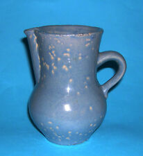 Studio Stoneware Pottery - Attractive Unusual Peppered Glazed Jug - Fully Marked