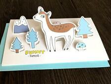 FD5251 X'mas Deer 3D Cards Holiday Greeting Cards Message Memo Cards Gift 1pc