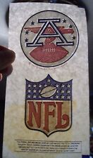 VINTAGE ORIGINAL AFL & NFL LOGO IRON ON TRANSFERS FROM 1969 BRAND NEW OLD STOCK