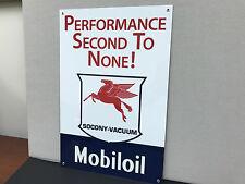 Mobil Oil  vintage advertising sign gasoline racing large Mobiloil