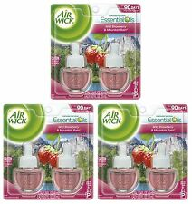 6 REFILLS Air Wick YOSEMITE Strawberry Mountain Rain Scented Oil Plug In Refill
