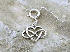 Sterling Silver Infinity Heart Charm fits Euro and Link Charm Bracelets - 1419
