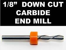"""1/8"""" Down Cut Carbide End Mill NEW - Left Hand Flutes - downcut Inlay Fretboard"""