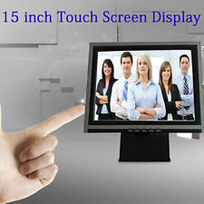 Touchscreen 15 Inch Touch Screen LCD VGA POS Touch Screen Monitor Restaurant USA