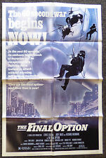 THE FINAL OPTION 1983 ORIGINAL 1 SHEET MOVIE POSTER THE TIPTOE BOYS