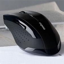 2.4GHz Funkmaus Optische Gaming Maus Mäuse Für Computer PC Laptop Schwarz Neu