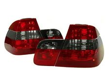 DEPO 2002-2005 BMW E46 3 Series 4D Sedan Euro Red/Smoke Rear Tail Lights Set