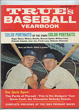 True Baseball Yearbook Mickey Mantle Roger Maris 1962 Clemente Ford Spahn No Lab
