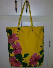 ISABELLA FIORE Yellow Flowered Canvas Tote