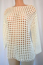 STELLA McCARTNEY Multi-Color Cotton Long Sleeves Striped Top Size 48