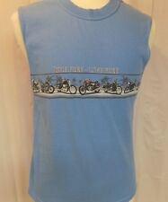 NO BAD DAYS MEN'S SLEEVELESS T-SHIRT BLUE SIZE M COTTON