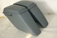 """for the 2014 up harley saddlebags 4.5"""" gray Coated ABS Hard Both side No Cutouts"""