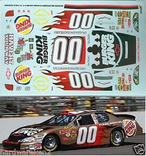 NASCAR DECAL # 00 BURGER KING BILL ELLIOTT 2006 MONTE CARLO JWTBM 1/24 Scale
