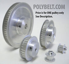 10XL037 Aluminum Timing Belt Pulley 10 Tooth, 0.187 Bore, 2 Flanges 2 Set Screws