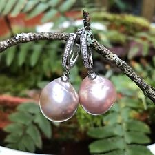 High Luster Baroque Pearl Earrings ,level Back Earrings,S925 Earrings