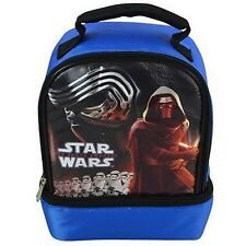 Disney Star Wars Lunch Bag Dome Shaped w/Drop Bottom 2 Compartment STARDOM-BLUE