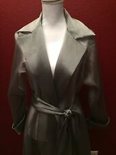 Beautiful Vintage TADASHI Silver Grey Sheer Long Tie Jacket One Size Party Dress