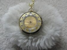 Pretty Swiss Made Omnia Wind Up Necklace Pendant Watch