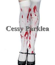 Bloody Zombie Blood Splattered Thigh High Stockings Halloween Costume Accessory