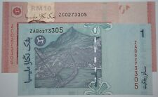 (PL) RM 1 ZAB & RM 10 ZC 0273305 UNC 1 ZERO NICE, FANCY, SAME NUMBER REPLACEMENT