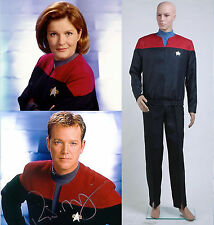 Star Trek Voyager Command Uniform Full Set Costume Red *Tailored*
